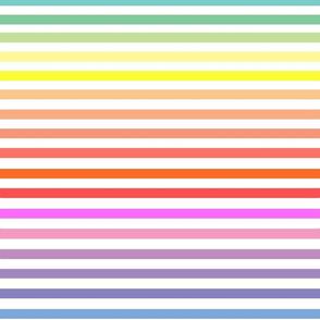 Classic Stripes / Pastel Bright Rainbow