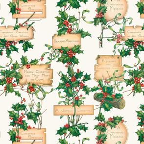 Vintage Floral Christmas Greetings
