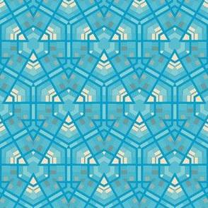 Aqua Hexagons © Gingezel™ 2012