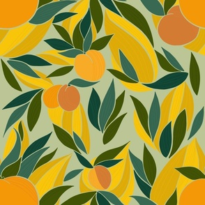 Peaches and apricots sage