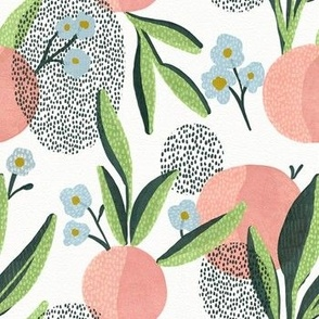Peaches and polka dots