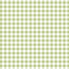 grayish apple green gingham small
