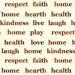 Home and Hearth Text Art