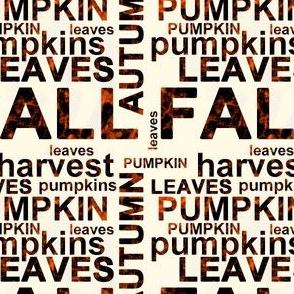 Harvest Pumpkin Text Art