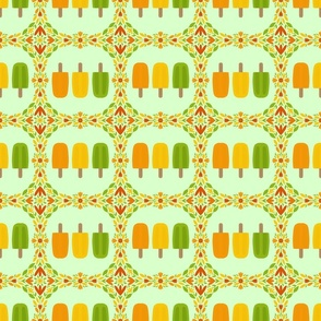 Popsicles framed mint