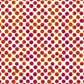 Large Magenta and Orange Dots