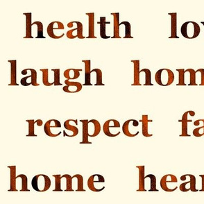 Large Home and Hearth Text Art