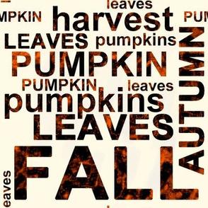 Large Harvest Pumpkin Text Art