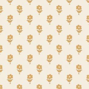 vintage inspired bespoke floral pattern jewel tone orange ivory boho chic classic style farmhouse style cottage core by TerriConradDesigns