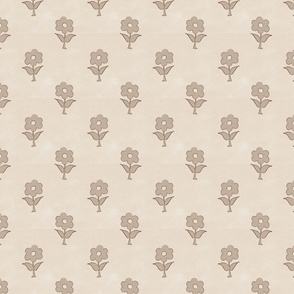 vintage inspired bespoke floral taupe farmhouse style classic small scale terriconraddesigns