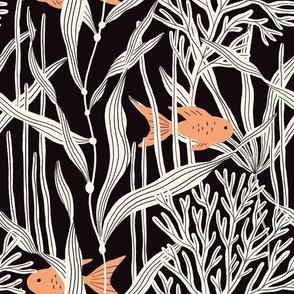 Fishy fishy (monochrome)