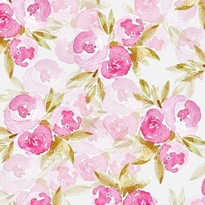 Watercolor Cottage Roses