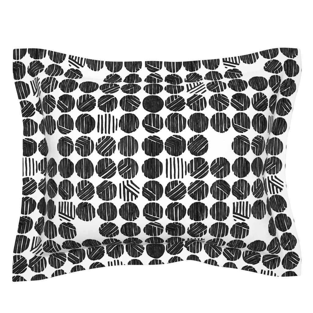 Sebright Pillow Sham featuring Manipulation Screen Sketch by leighr