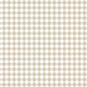 light brown and white houndstooth small