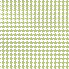 Green and white houndstooth small