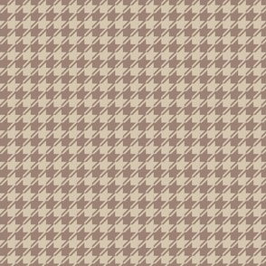 brown and beige houndstooth small