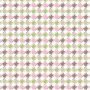 Colorful white houndstooth medium
