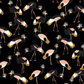 jumbo east african cranes - black - textured