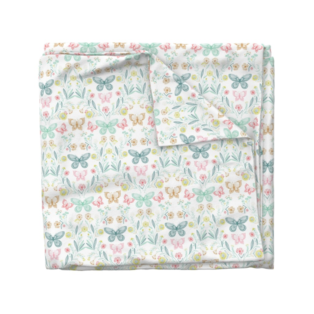 Wyandotte Duvet Cover featuring botanical butterflies by bethan_janine