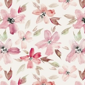 dolce bloom - watercolor tender florals - pastel loose flowers a364-9