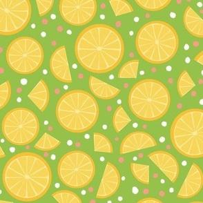 Summer Lemon Slices Green