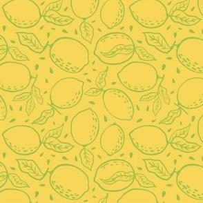 Summer Lemon Toss  Green Outline