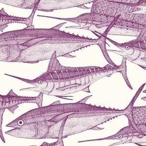 Atlantic fish purple small