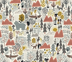 A Walk in the Woods (pink and gray)