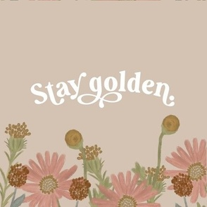 """9"""" square: stay golden"""