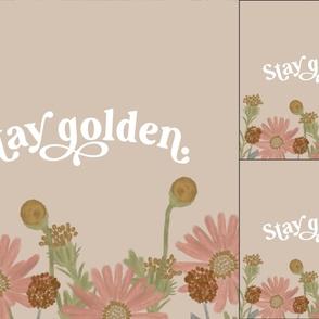 1 blanket + 2 loveys: stay golden