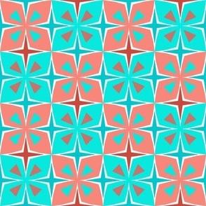 Tiki Toon Tiles Coral and Chlorine
