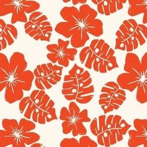 Vintage Hibiscus Dark Orange