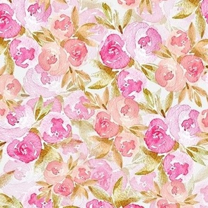 Watercolor Roses Cottage Core