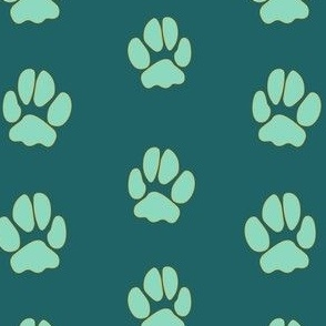 Maui Paws in Green & Blue