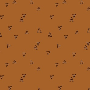 simple triangles in brown