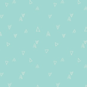 simple triangles in light teal