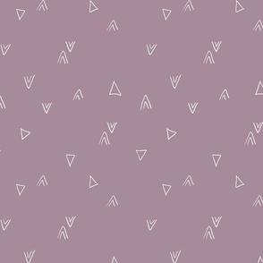 simple triangles in purple