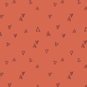 simple triangles in bright blush