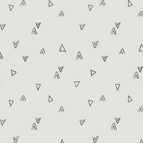 simple triangles in gray