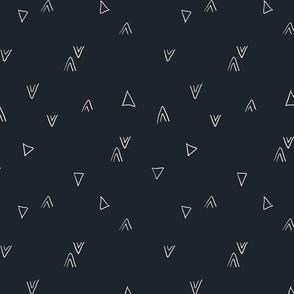simple triangles in dark grey