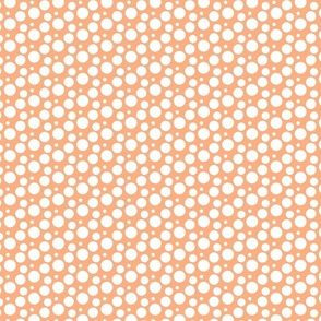 Peach Dots for Cavapoo or Cavadoodle Cuteness, puppy dog
