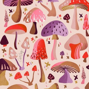 Mushroom Collection – Pink