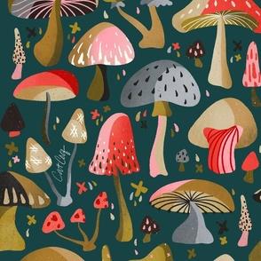 Mushroom Collection – Teal
