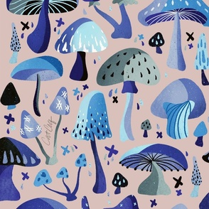 Mushroom Collection – Blue & Blush
