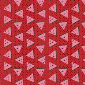Watermelon - red background