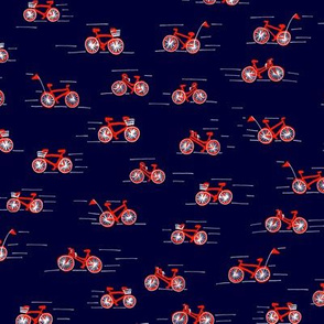 Two Wheelers, Navy / Red