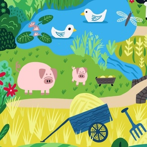Farm Fun I Spy Playmat
