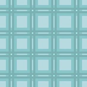 monochrome blue plaid
