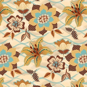 paper flowers on vanilla