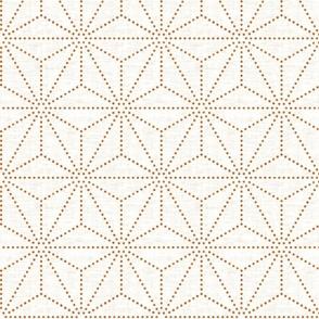 Shibori  Stars Copper texture